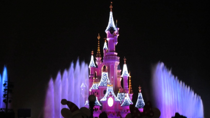It's blurry, but this is when they were prelighting the castle before the show started.