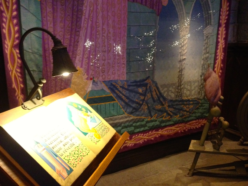 The Sleeping Beauty tapestry had lights that twinkled and faded away!